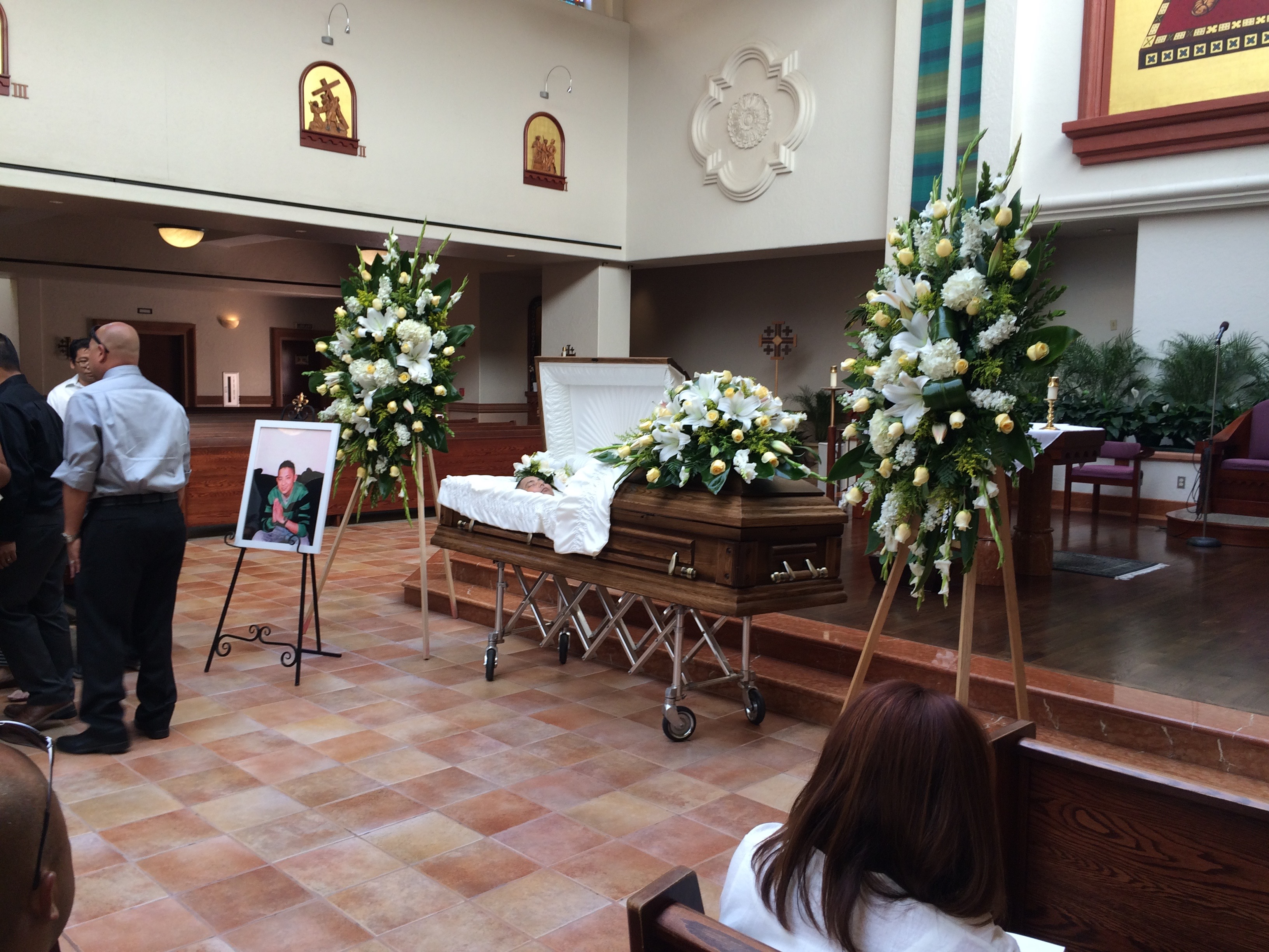 Woodland Hills, CA - Viewing and Funeral Service at St. Bernardine Catholic Church - Friends Funeral Home